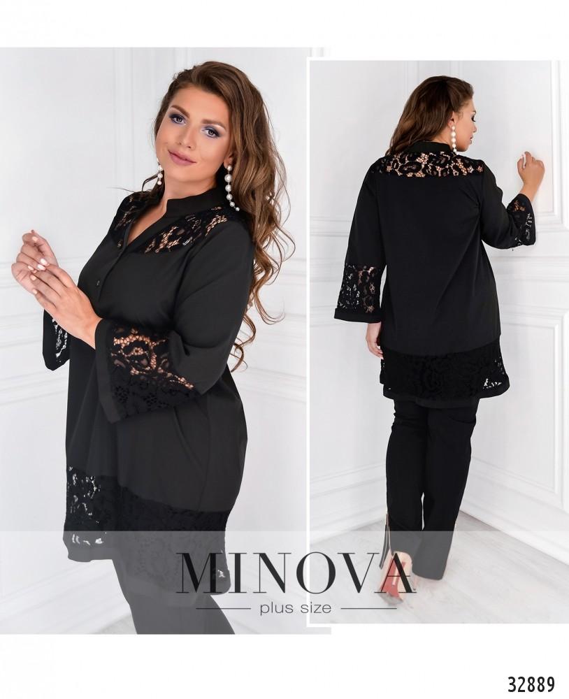 Рубашка №4033-1-черный