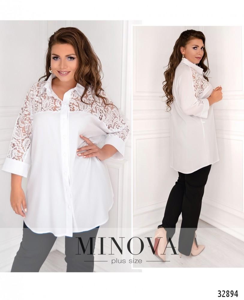 Рубашка №4042-1-белый