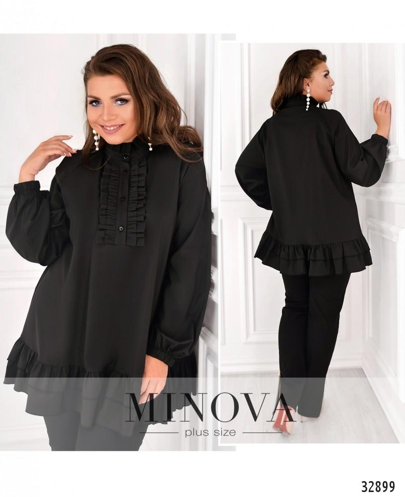 Блуза №1831-1-черный