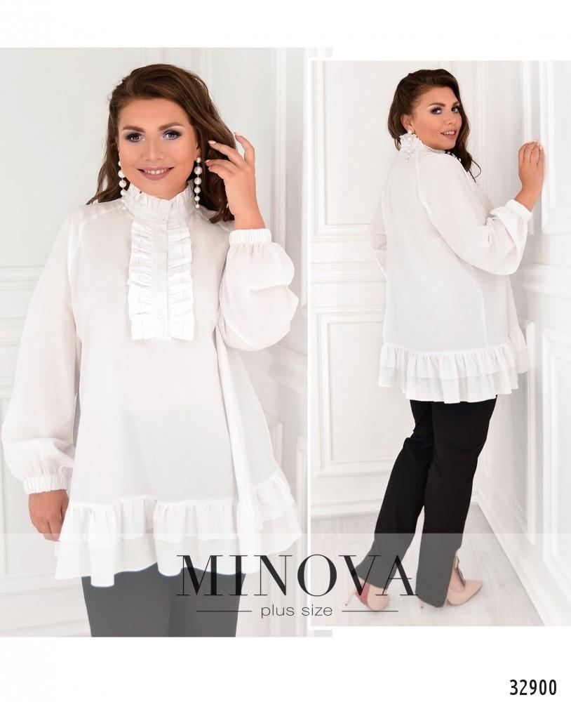 Блуза №1831-1-белый