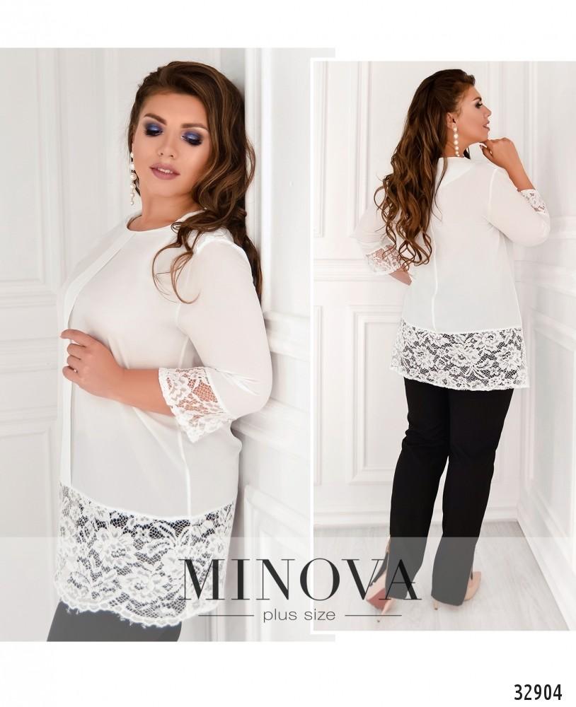 Блуза №4090-1-белый