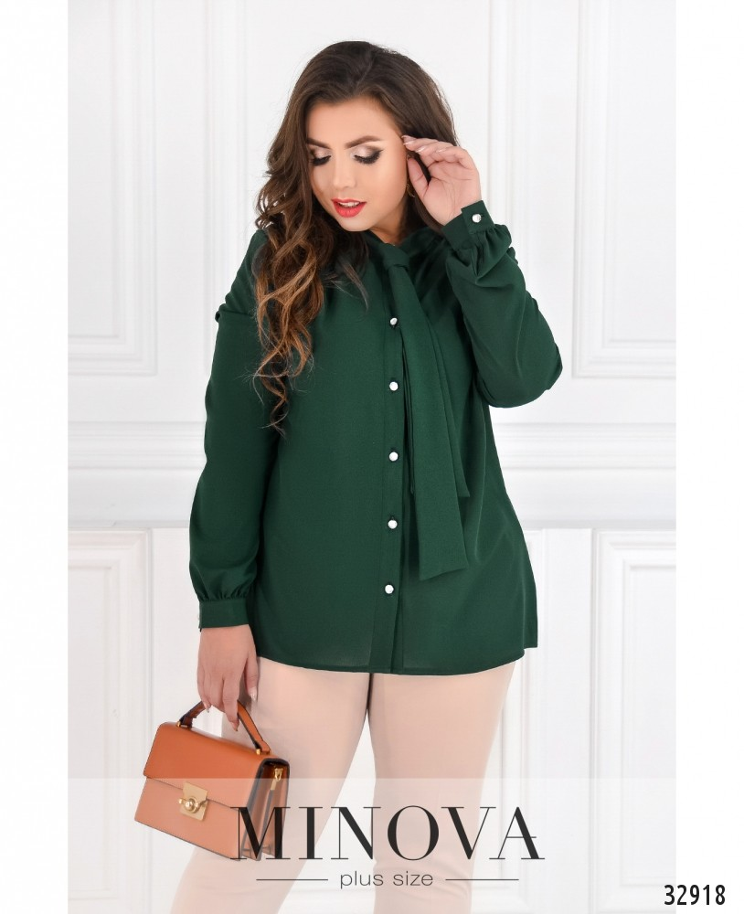 Блуза №119-темно-зеленый