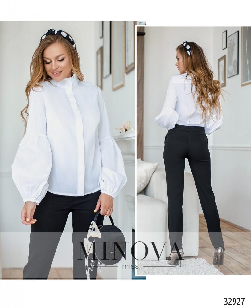 Рубашка №1596-белый