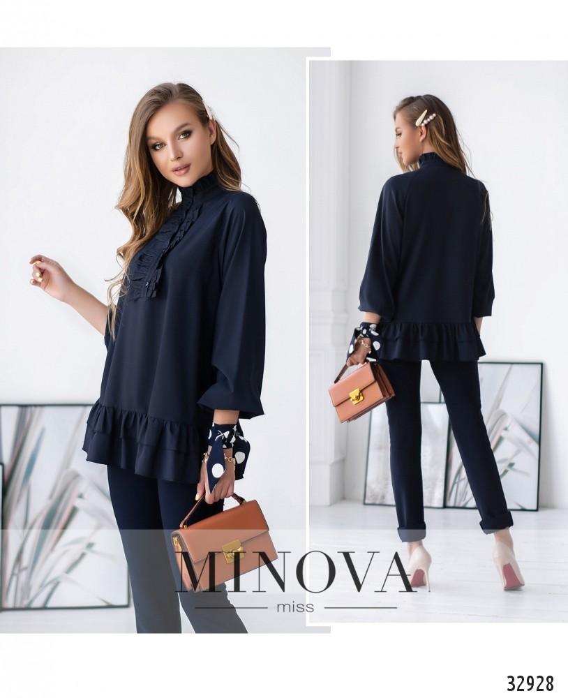 Блуза №1831-синий