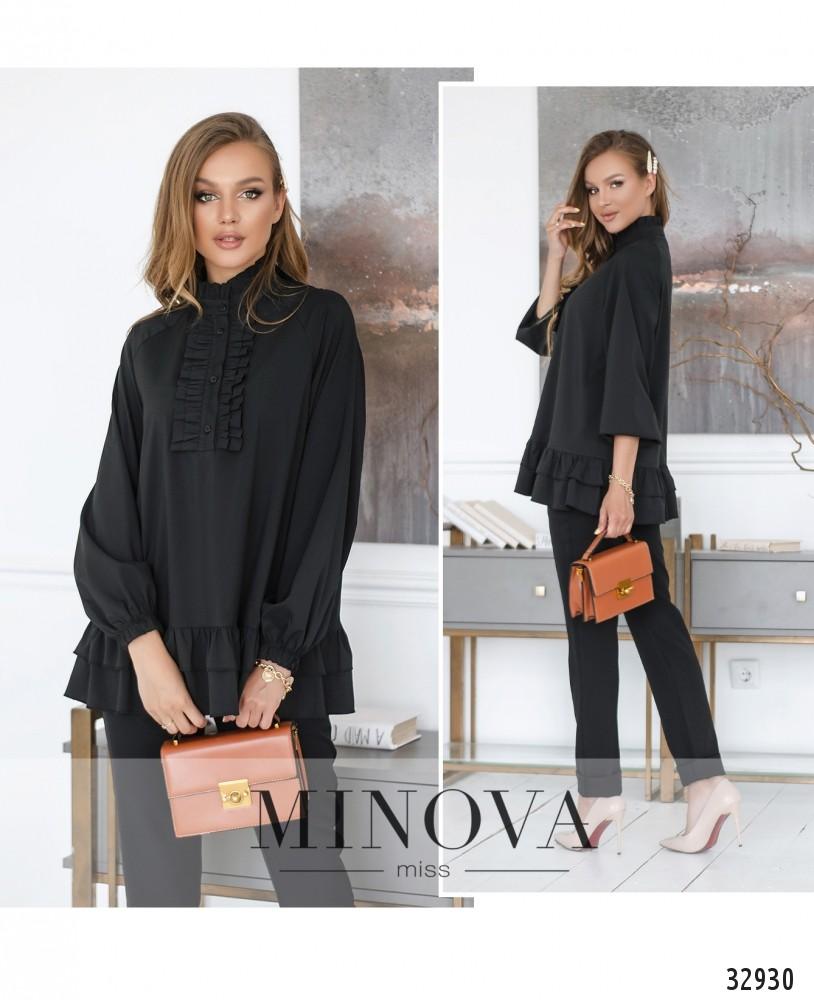 Блуза №1831-черный