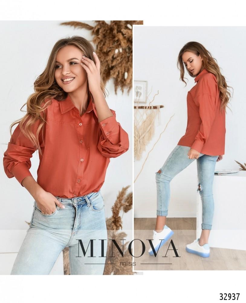 Рубашка №3091.16-оранжевый
