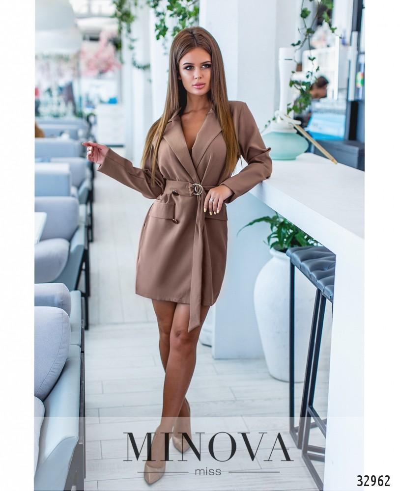 Платье №1284-мокко