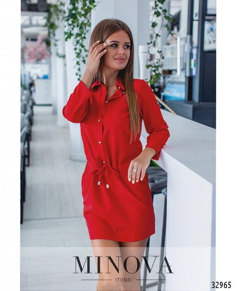 Платье №1043-красный