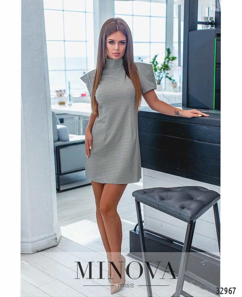Платье №1282-гусиная-лапка