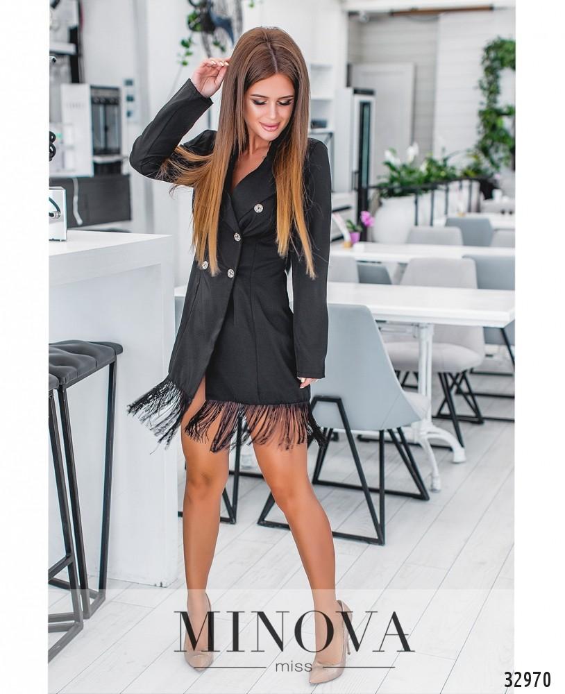 Платье №1136-черный