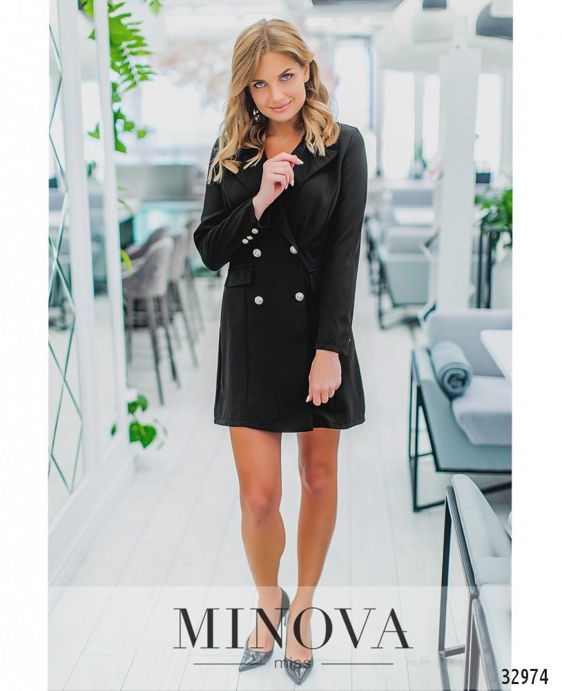 Платье-пиджак №1280-черный