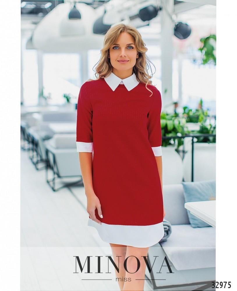 Платье №1353-красный
