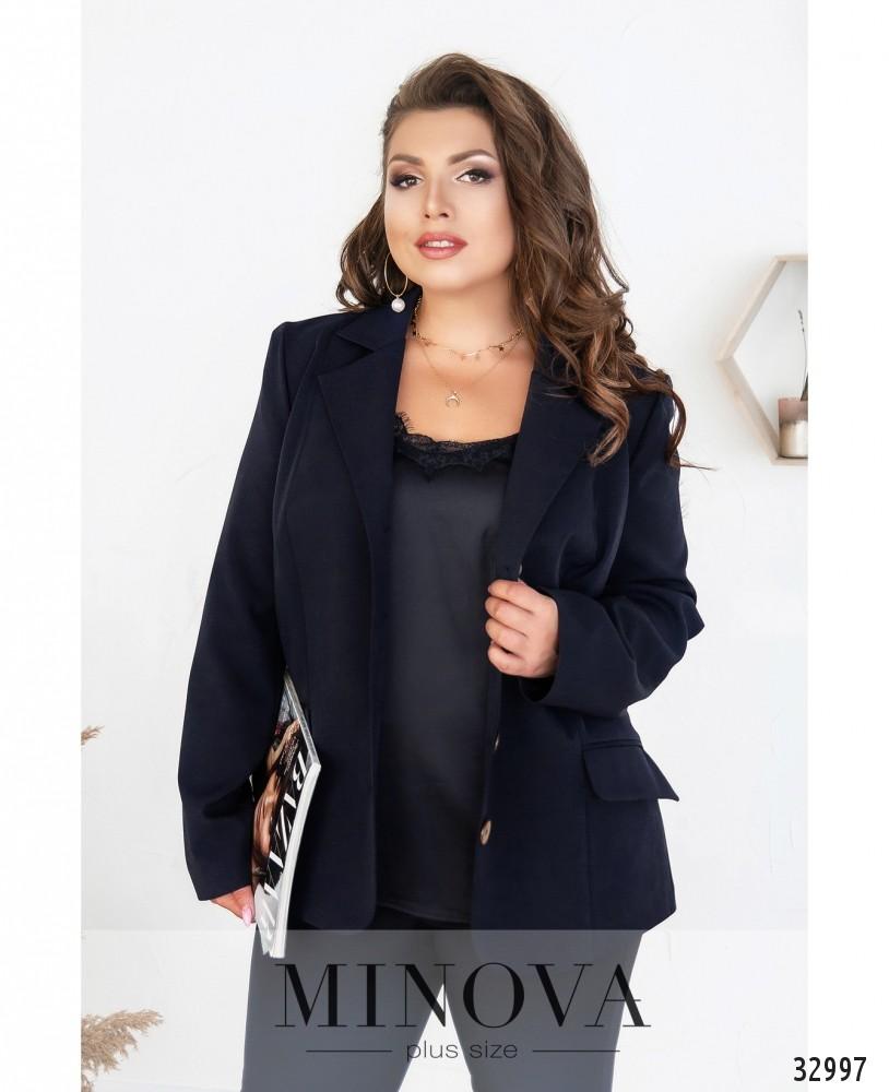 Пиджак №8-180-синий