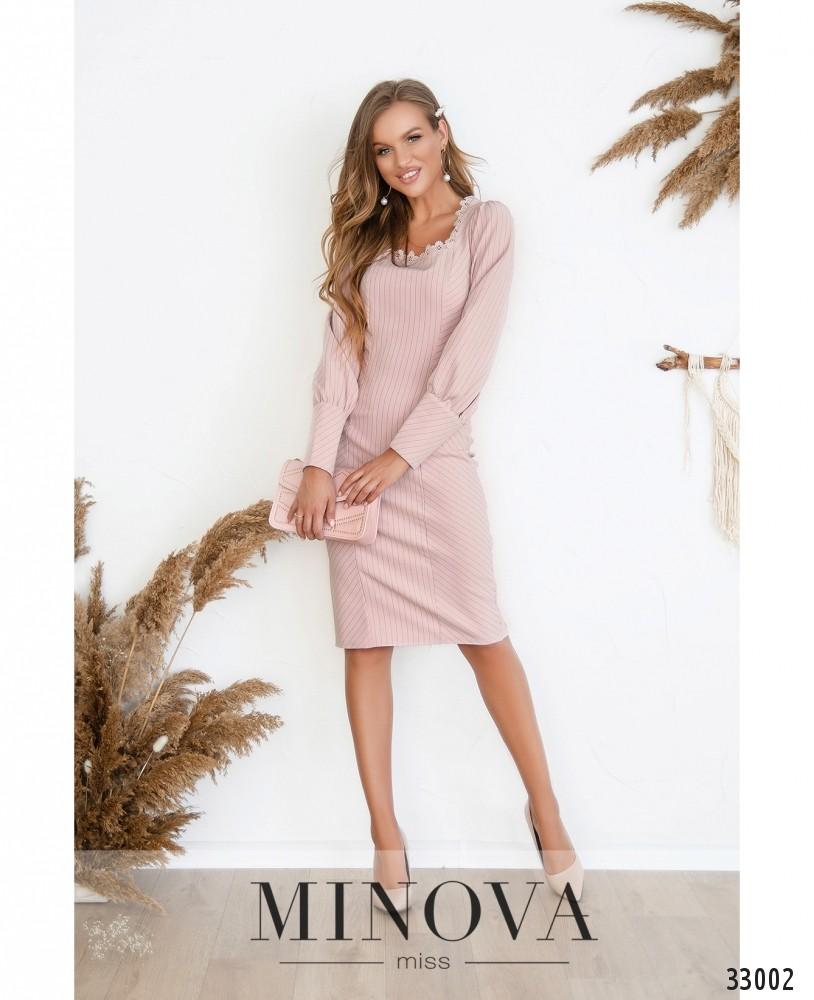 Платье №3125-пудра