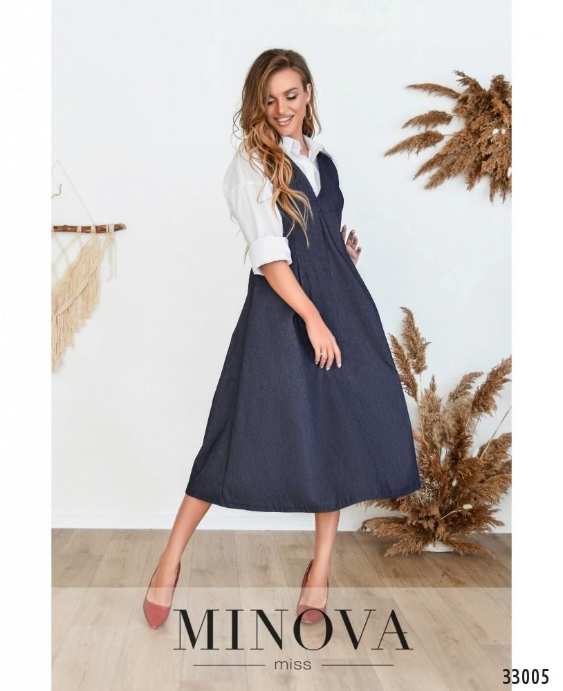 Платье №5183.19-джинс