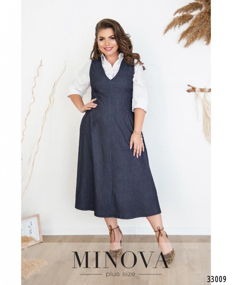 Платье №5183.19Б-джинс