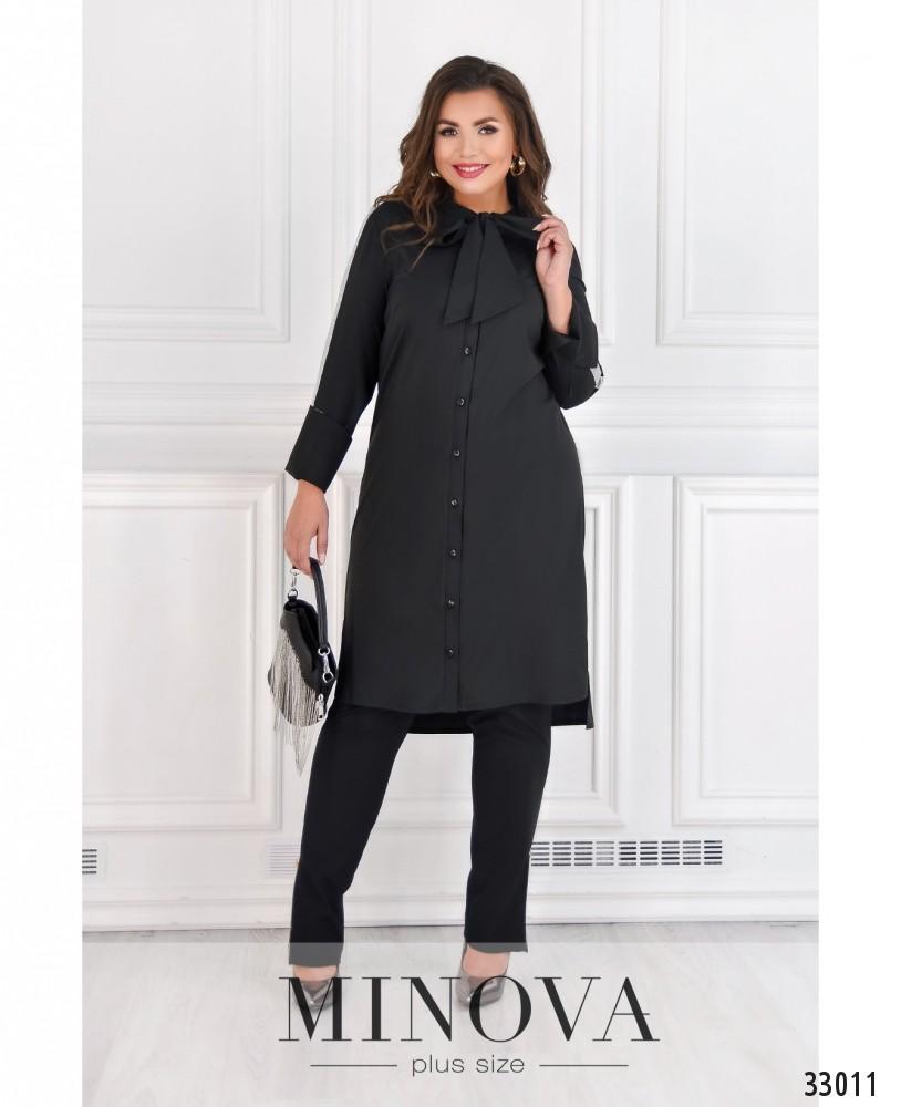 Платье-рубашка №4082-1-черный