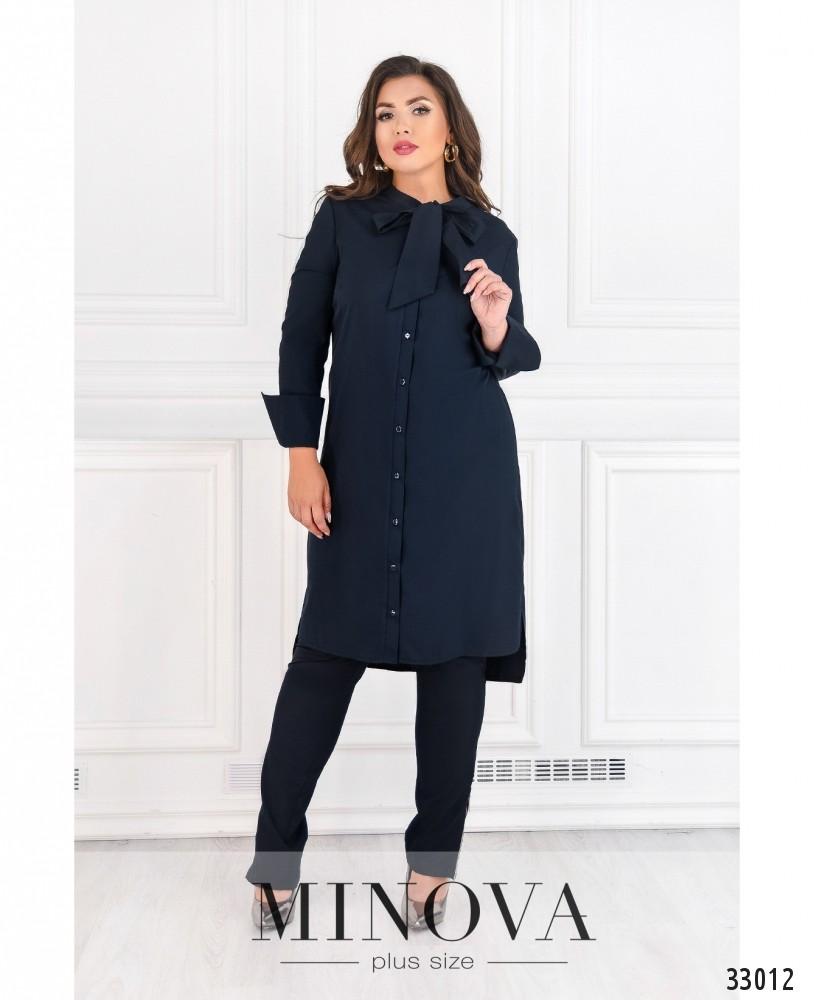 Платье-рубашка №4082-1-синий