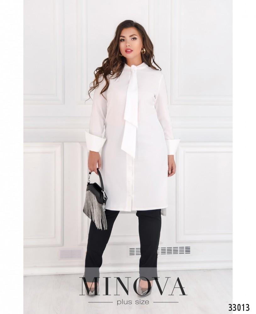 Платье-рубашка №4082-1-белый
