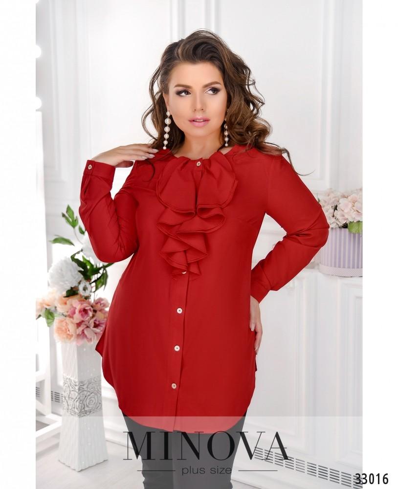 Рубашка №4104-1-красный