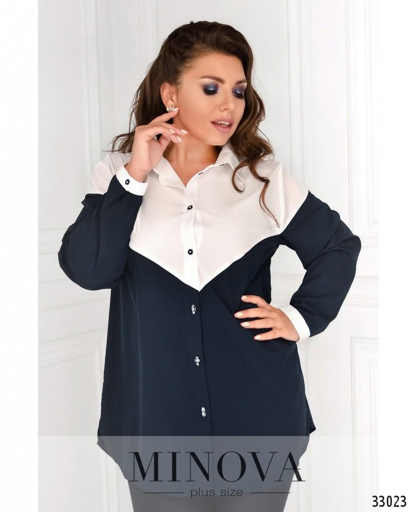 Рубашка №1826-1-бело-синий