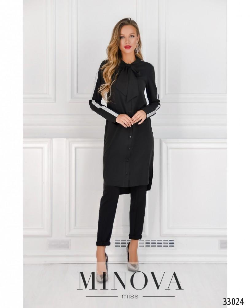Платье-рубашка №4082-черный