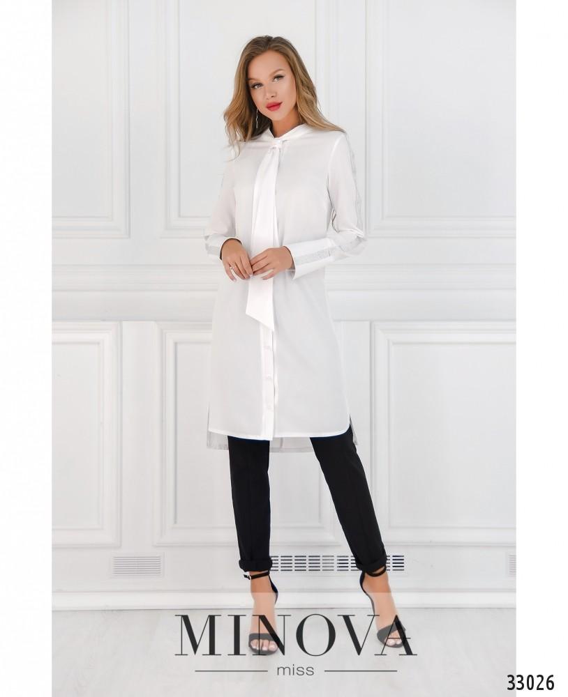 Платье-рубашка №4082-белый