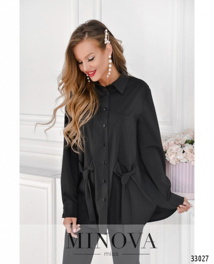 Рубашка №1862-черный