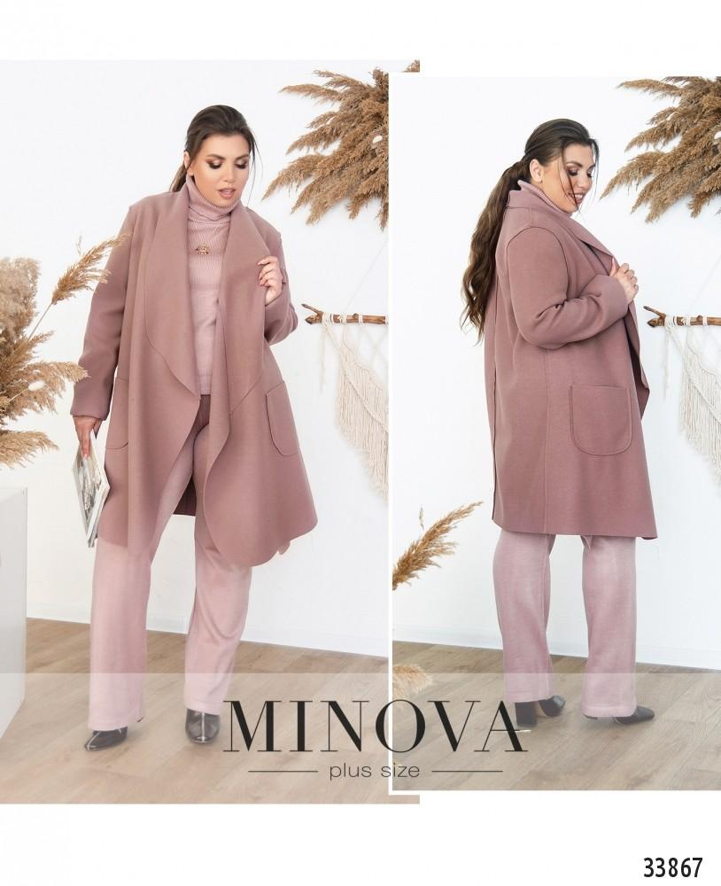 Пальто №1707-лиловый