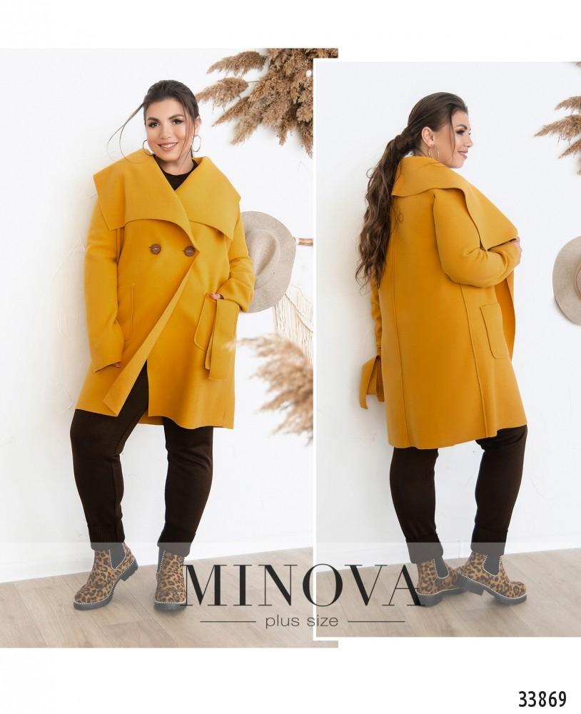 Пальто №1708-горчица
