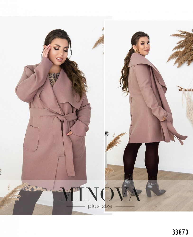 Пальто №1708-лиловый