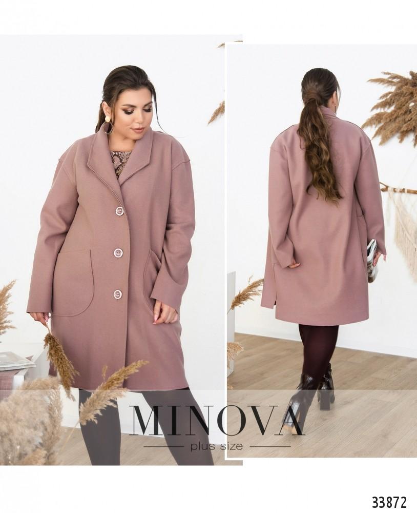 Пальто №1709-лиловый