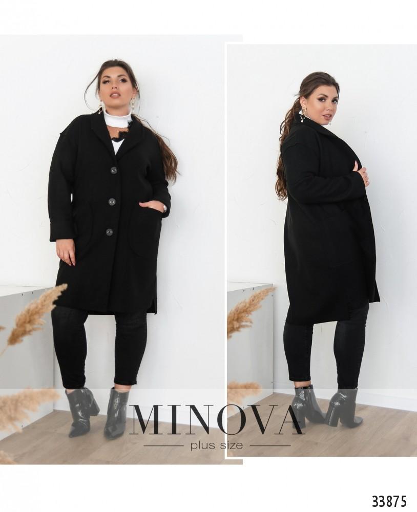 Пальто №1709-черный