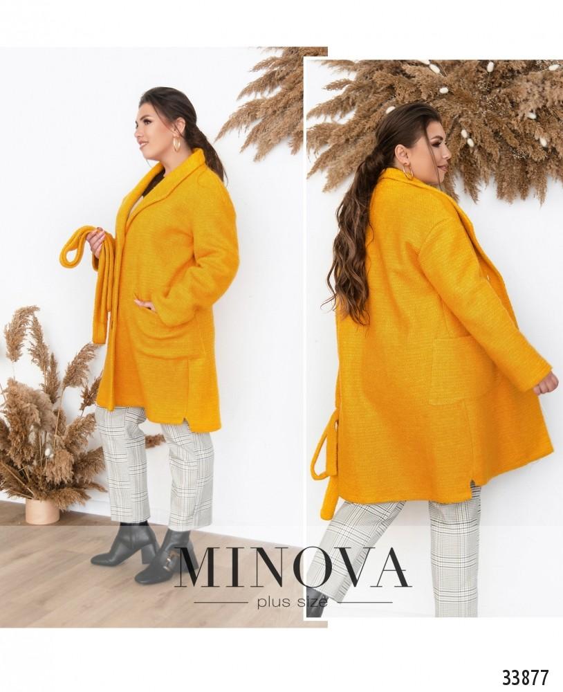 Пальто №1710-горчица