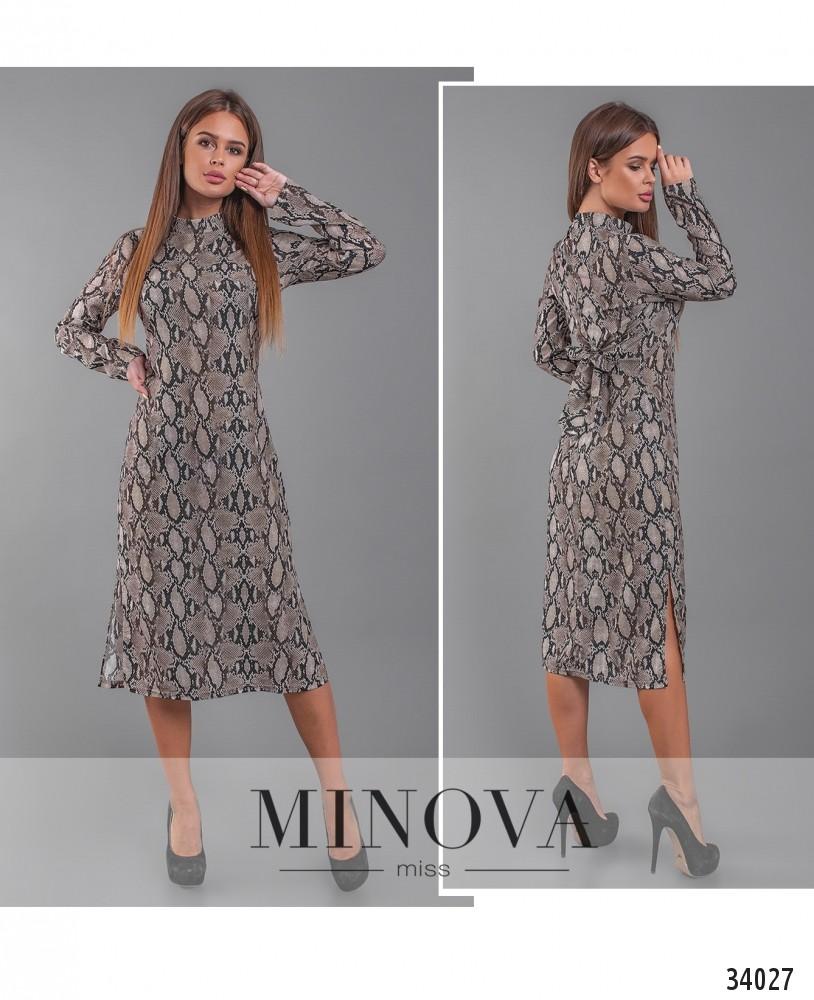 Платье №1305-1-серый (н)
