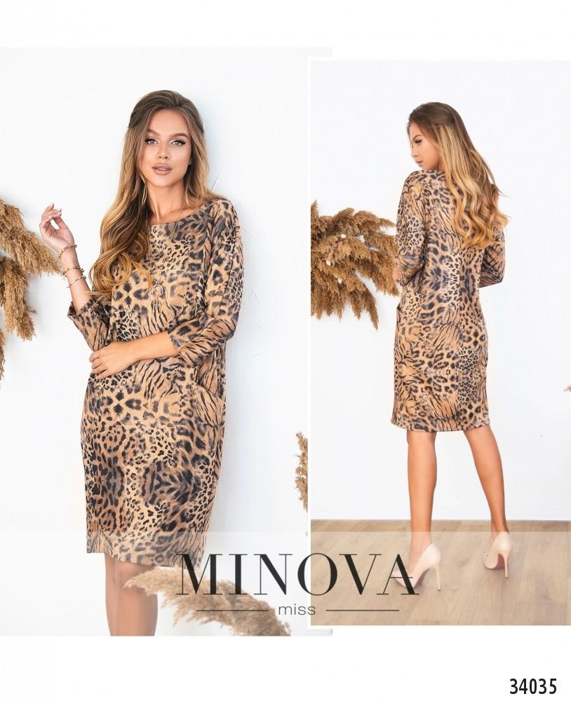 Платье №489-леопардовый (н)
