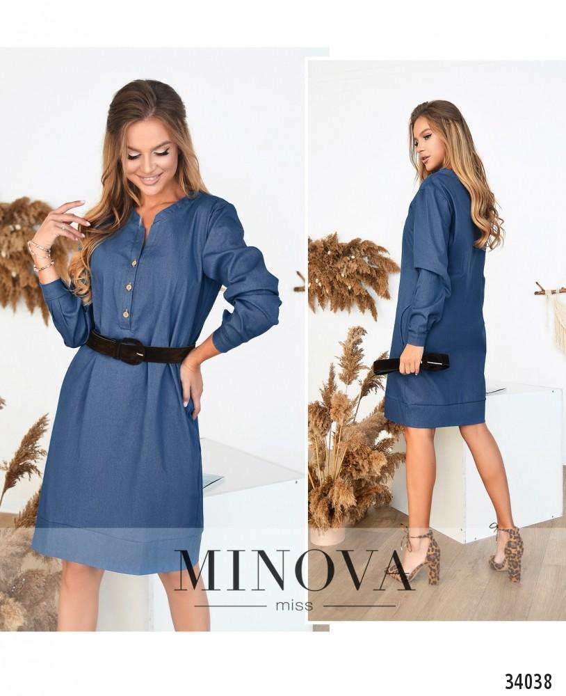 Платье №488-голубой (н)