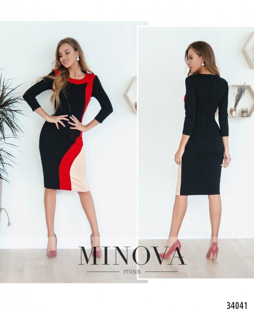 Платье №1871-черный (н)