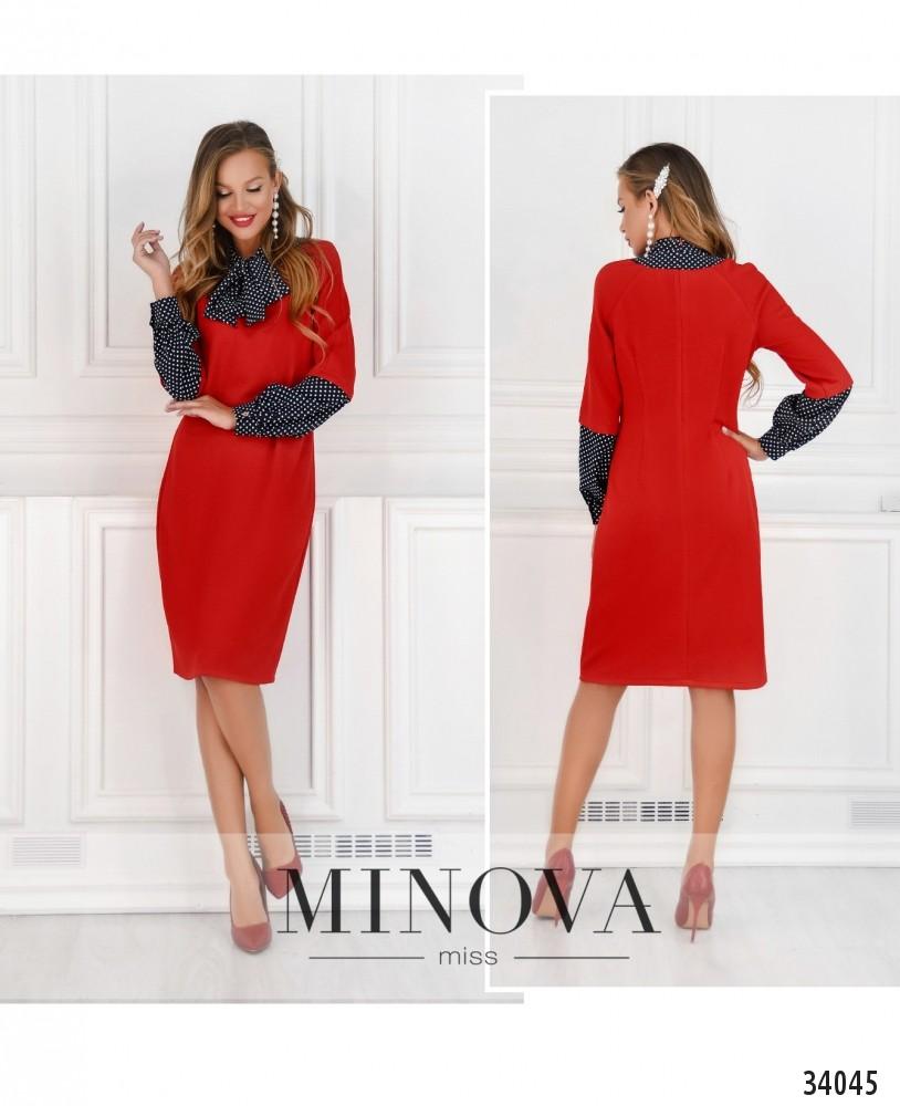 Платье №14380-красный (н)
