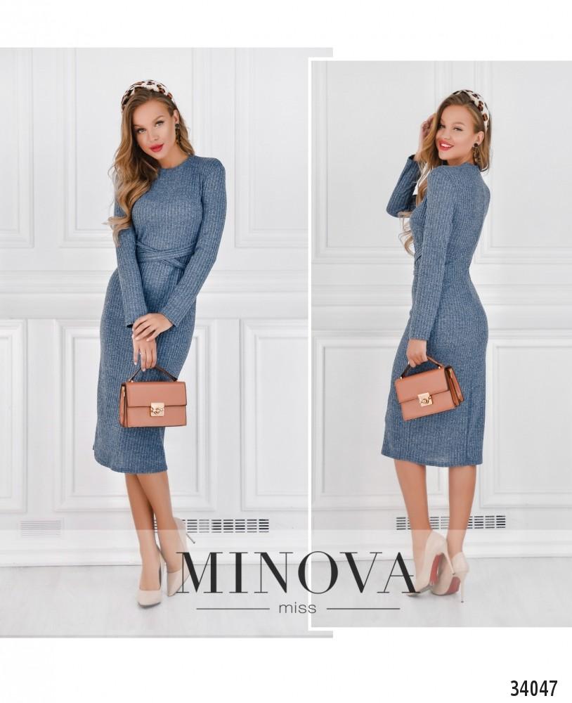 Платье №1745-голубой (н)