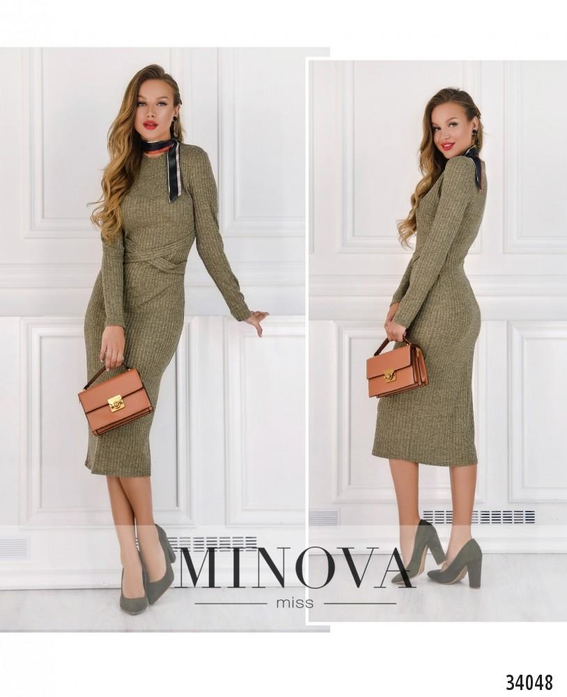 Платье №1745-оливковый (н)