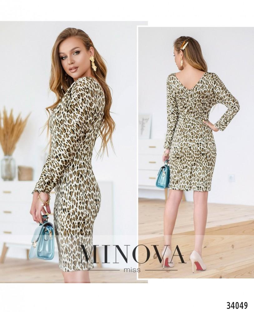 Платье №1499-леопардовый (н)