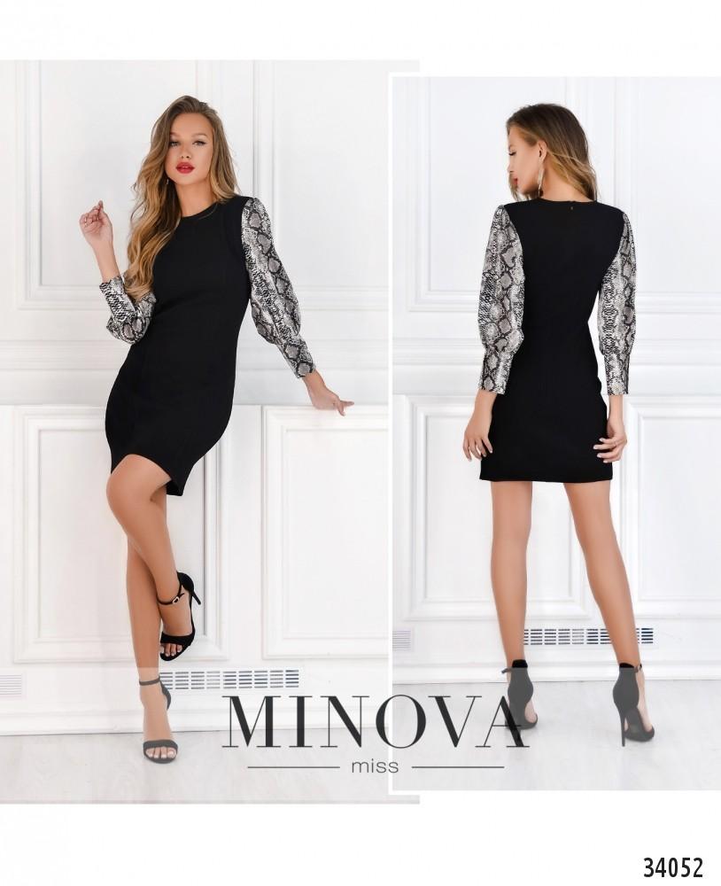 Платье №15710-черный (н)