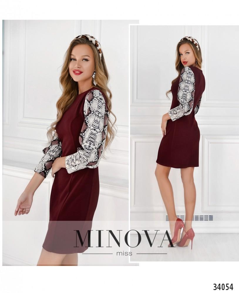 Платье №15710-бордо (н)