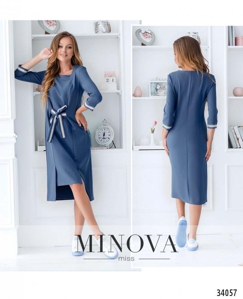 Платье №4093-голубой (н)