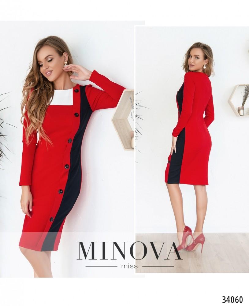 Платье №4107-красный (н)