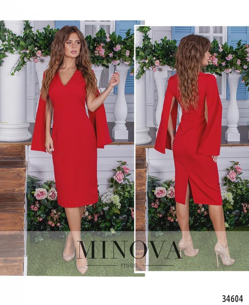 Платье №1380-красный