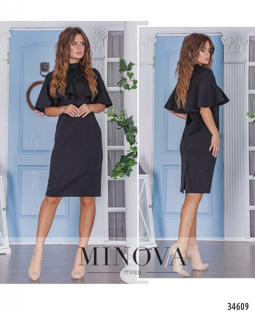 Платье №1382-черный