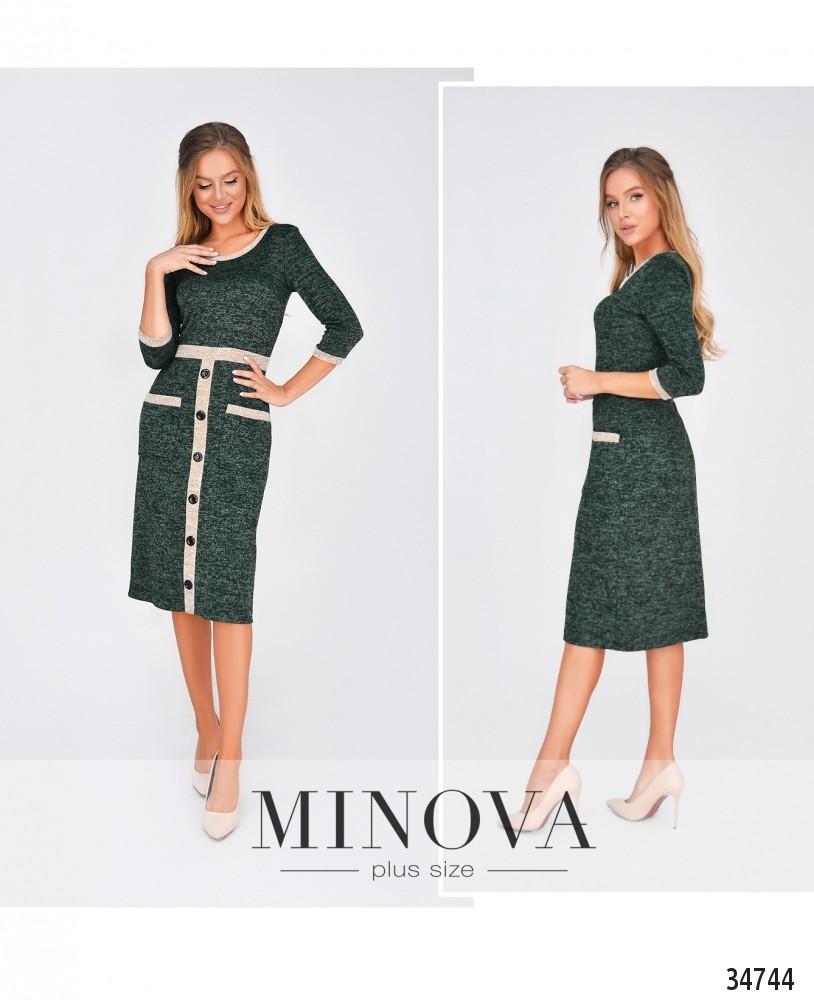 Платье №1874Н-темно-зеленый