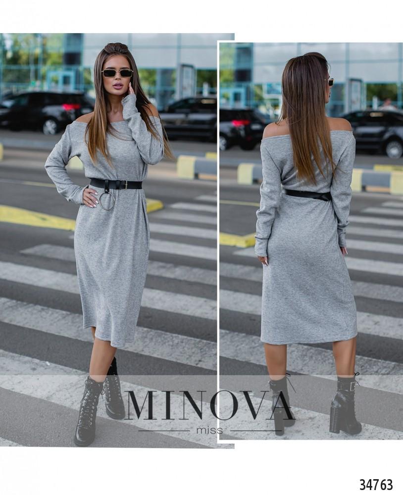 Платье №1390Н-серый